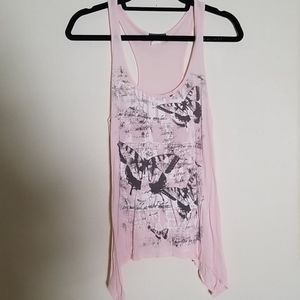 Wetseal - butterfly pink top - M but more like S